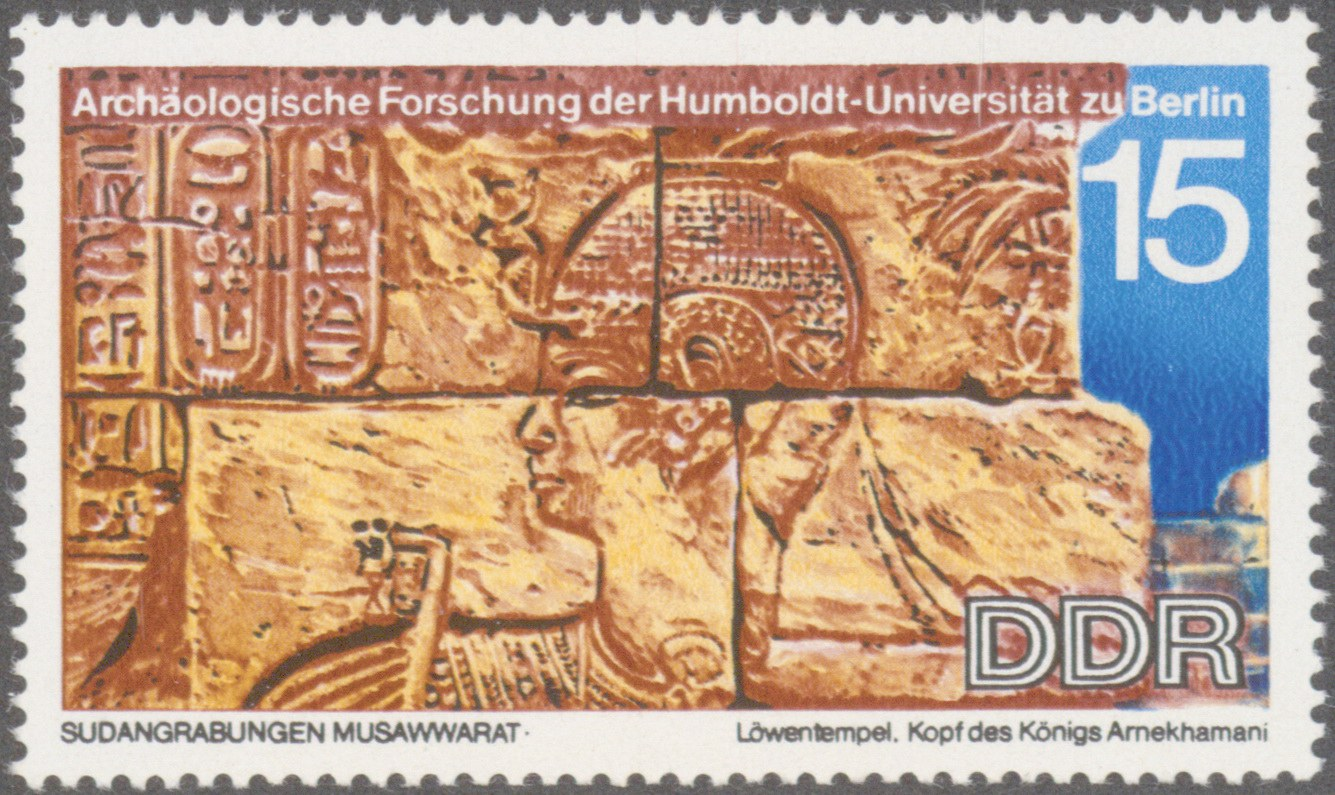 Stamp by the GDR with King Arnekhamani